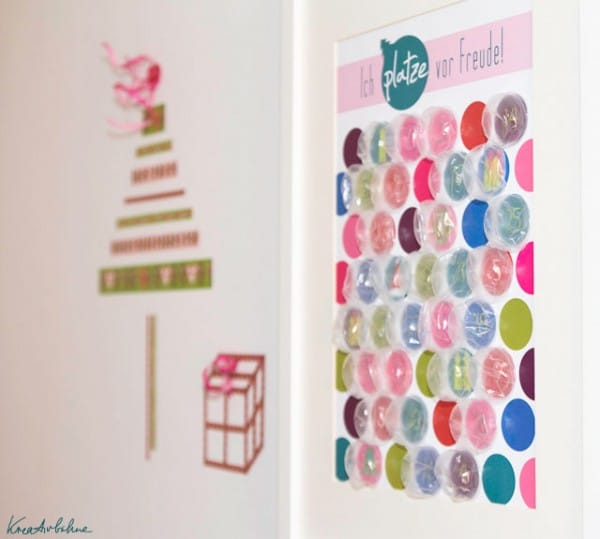 Bubble-Adventskalender aus Noppenfolie {Freebie}