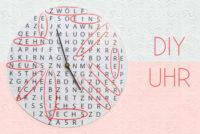 DIY: Uhr basteln mit rätselhafter Zeit {Freebie}