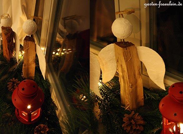 Holzscheit Engel Handmade Kultur