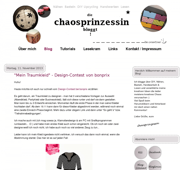 die chaosprinzessin bloggt! (...be creative!)