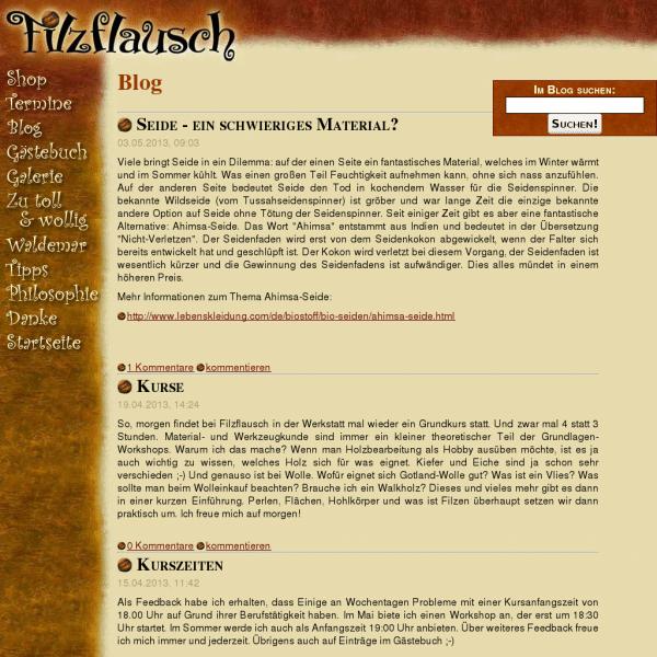 Filzflausch Blog