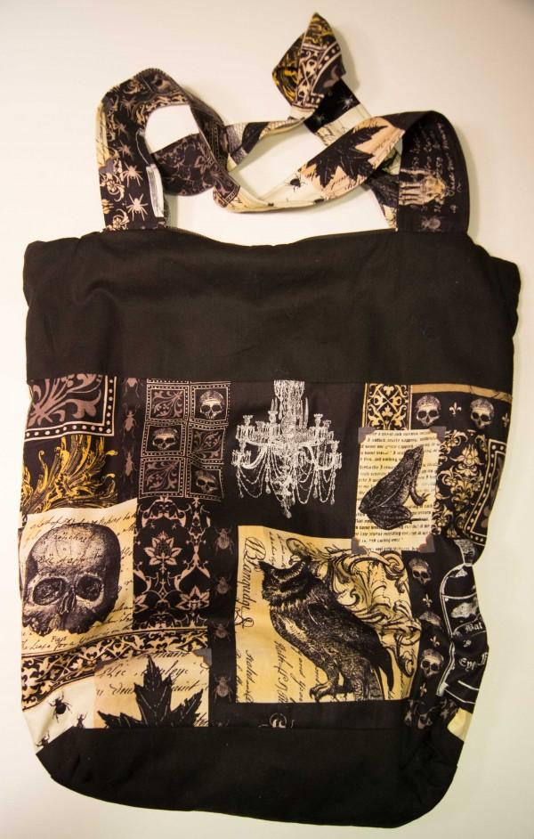 nevermore diy henkeltasche mit rei verschluss handmade kultur. Black Bedroom Furniture Sets. Home Design Ideas