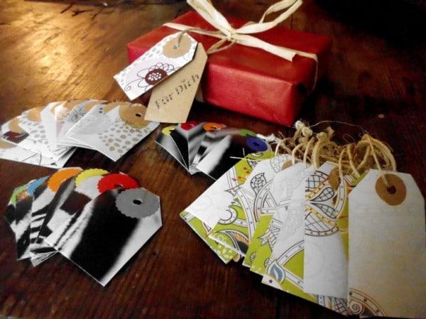 Upcycling Geschenkanhänger aus Taschentuchboxen