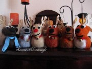 Die Schlittentiere des Weihnachtsmann