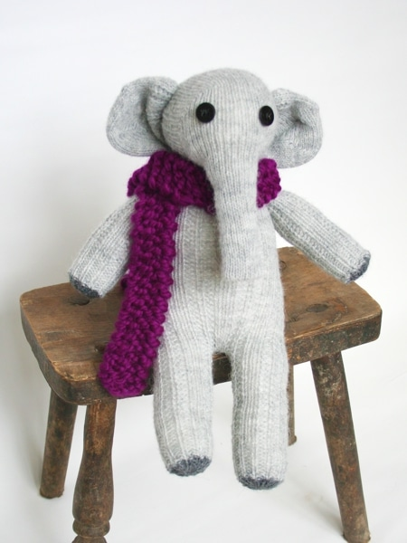Sockentier: Baby-Elefant Elly