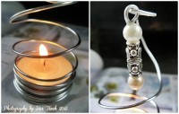 Simple Teelichhalter [DIY aus Draht & Perlen]