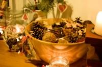 Weihnachtsdekoration mit Naturmaterialien Landhausstil