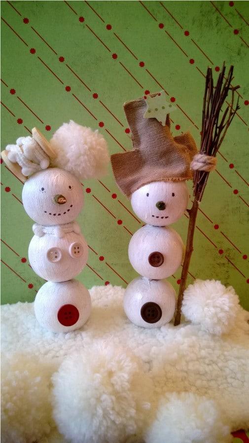 Schneemann mit Schneefrau