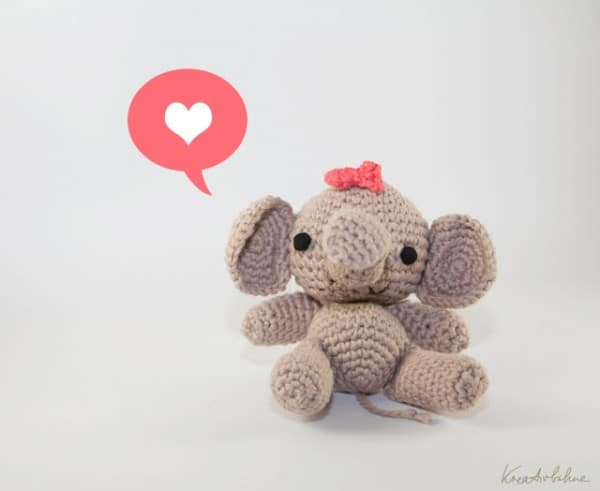 Amigurumi Elefantenbaby Mit Schleife Handmade Kultur