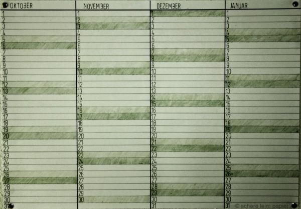 Wandkalender selbstgemacht