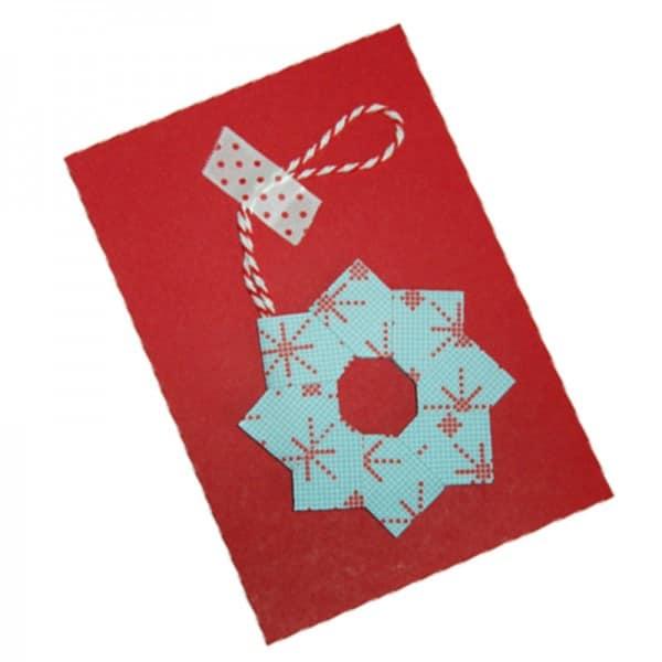 Weihnachtskarten Origami.Weihnachtskarten Mit Origami Kranz Handmade Kultur