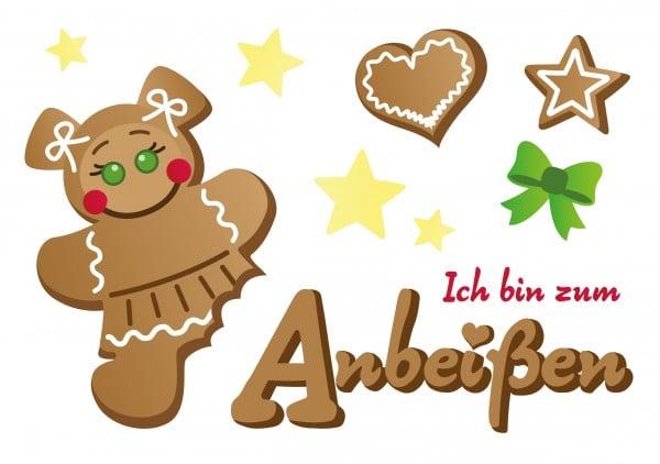 Freebie: Lebkuchenfrau & -mann als Motiv-Vorlage zB für Bügelbilder