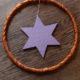 Zu Weihnachten passt auch Kupfer und Lila : ein simpler und schnell gemachter Türkranz