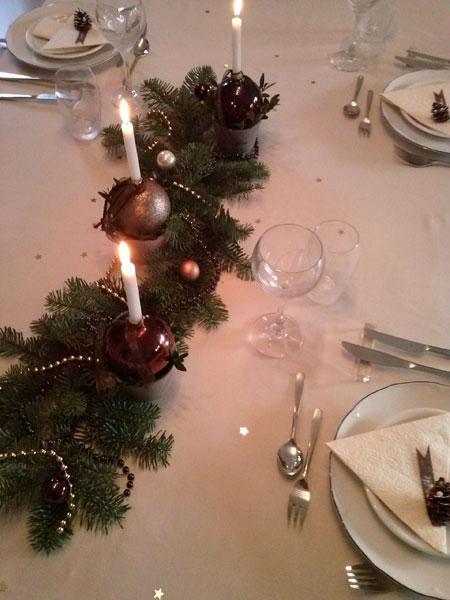 Weihnachtliche Tischdekoration III
