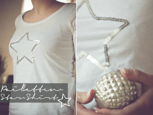 Pailletten-Stern-Shirt