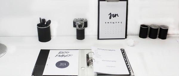 DIY Blogplaner 2014