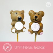 DIY Teddybär Cake Pop
