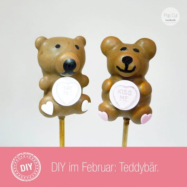 DIY Teddybär Cake Pop