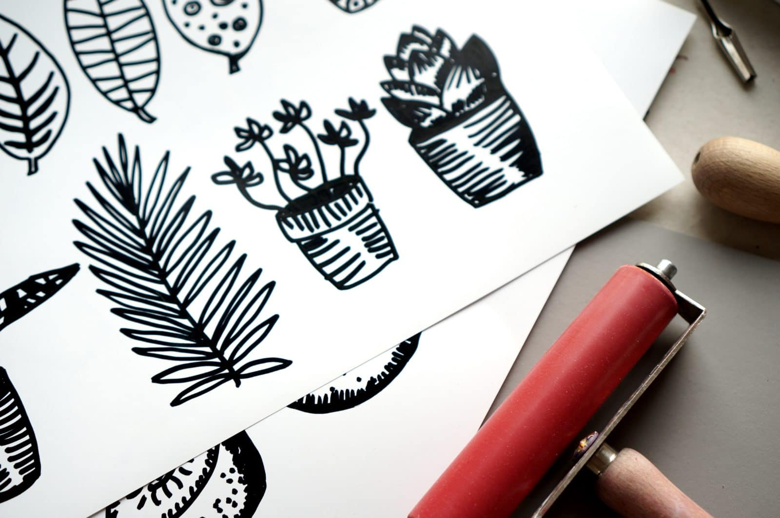 Grafik Druckgrafik Hochdruck Linolschnitt