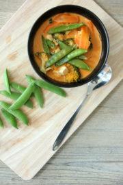 (Anti-Erkältungs) Vegetarische Curry Kokos Suppe