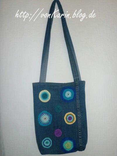 Jeans Upcycling Tasche Mit H 228 Kelpunkten Handmade Kultur
