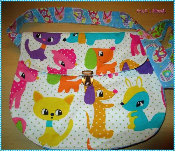 Kindergartentasche aus 3 Schnittteilen