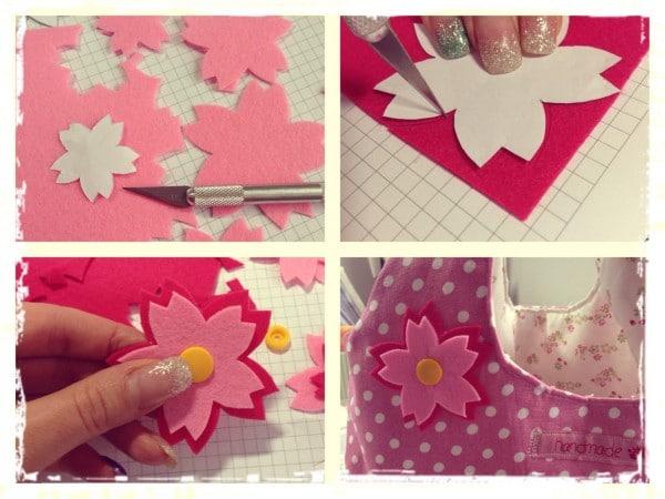 DIY: Kirschblüten aus Filz