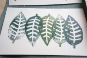 Grußkartengestaltung mit Linolschnitt