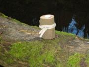 Baumstamm- Teelichthalter