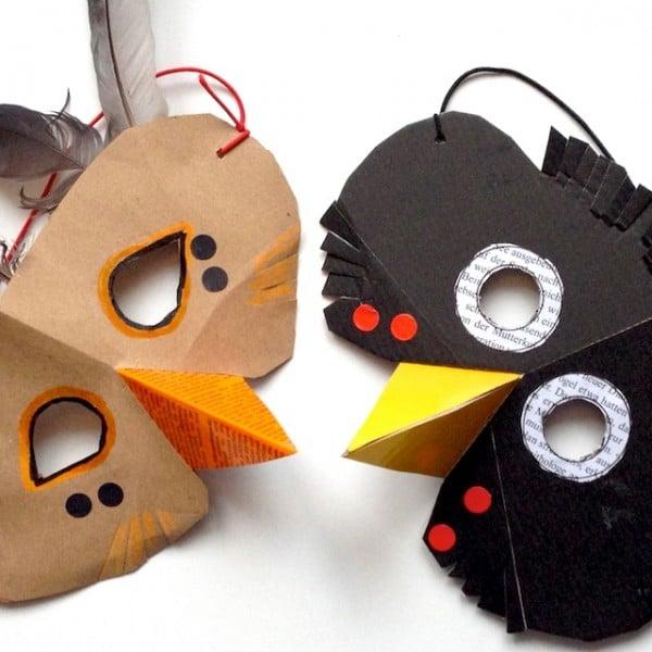 Vogelmasken für kinder