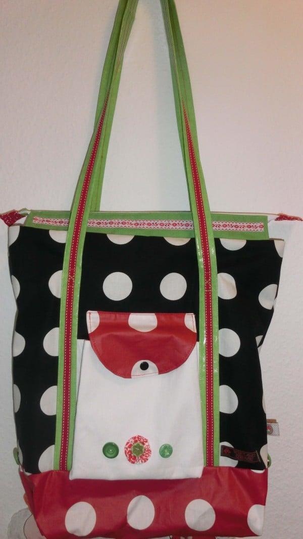shopper polka zum magazin gewinnspiel passend zum geldbeutel handmade kultur. Black Bedroom Furniture Sets. Home Design Ideas
