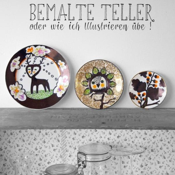 Illustre Teller - hübsche Wand-Deko aus alten Tellern