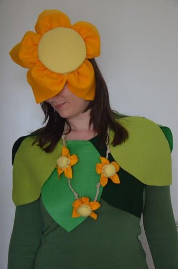 DIY Blumenkostüm