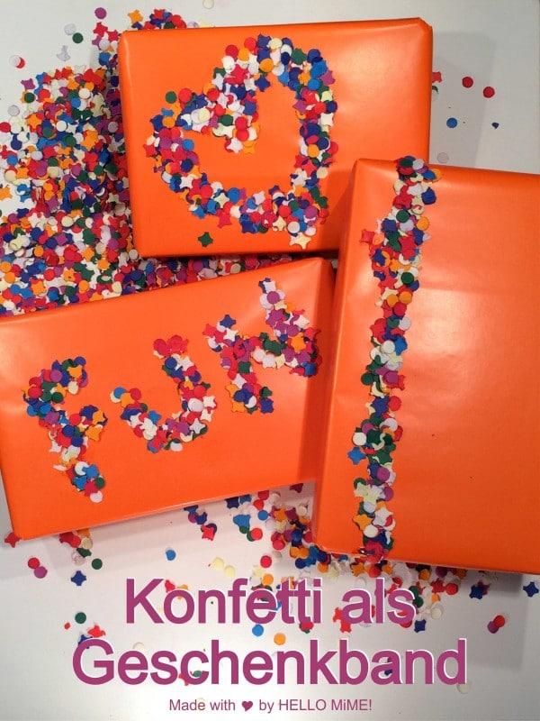 DIY – Geschenke mit Konfetti hübsch verpacken