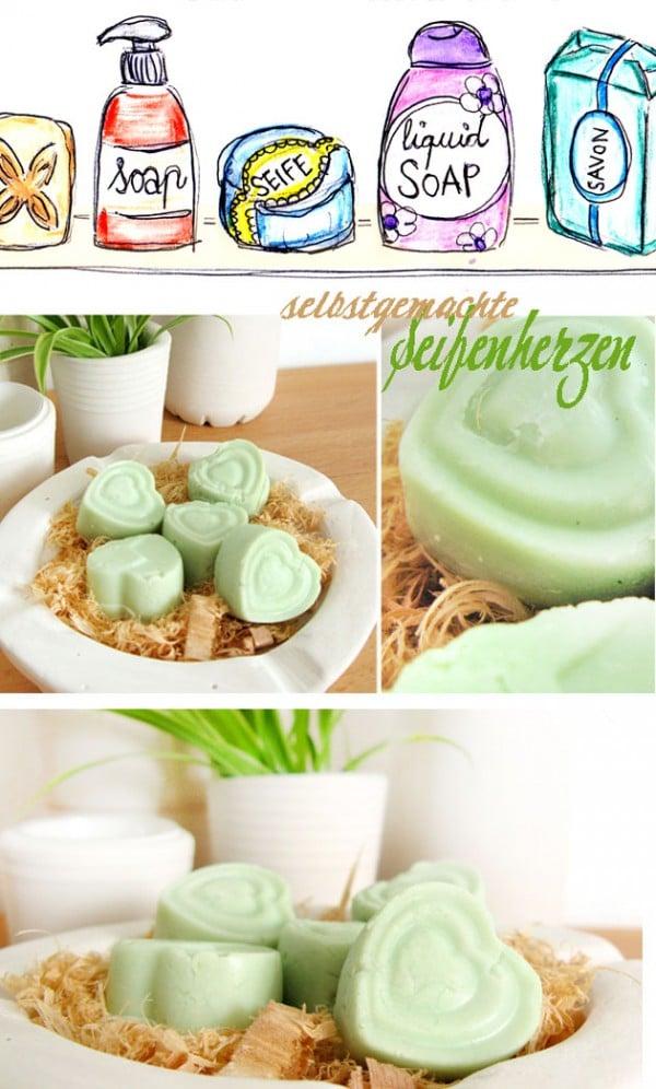 [diy] selbstgemachte Seifenherzen