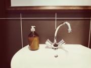 Montagsrecycling: Medizinflasche als Seifenspender