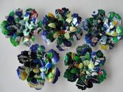Blumen - Magnete aus Getränkedosen