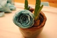Stoffblumen-Haarspange