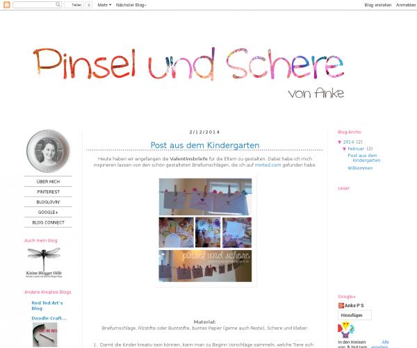 Pinsel und Schere