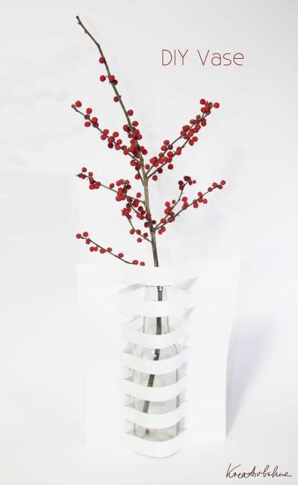 DINA4 als Vase