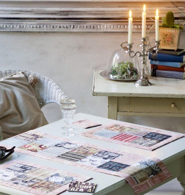 Tischläufer – mit passenden Tischsets und Untersetzern