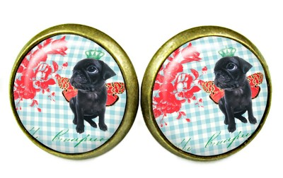 OHRSTECKER MOPS CABOCHON SHABBY