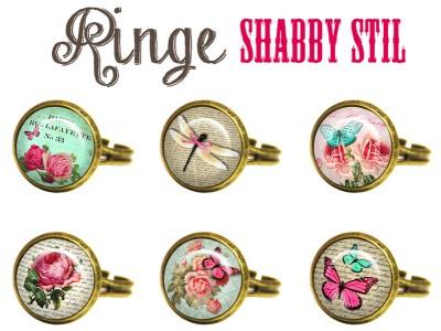 RING SHABBY STIL CABOCHON SHABBY CHIC
