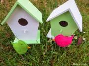 Vogelhäuschen mit Filz - Vögeln