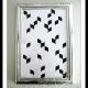 Chevron Wandbild aus Papier und Tusche