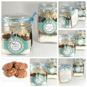Backmischung im Glas für Schoko-Cookies
