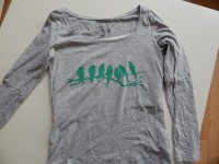 Upcycling- T-shirt bedrucken mit Freezerpapier