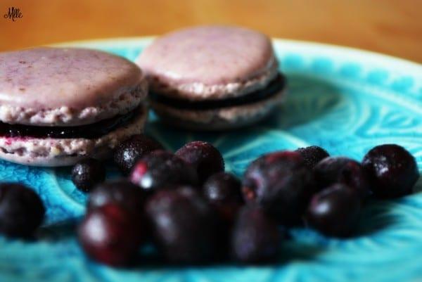 Blaubeer-Macaron