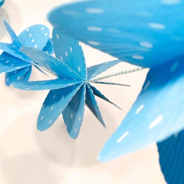Girlande aus Papierförmchen für Cupcakes