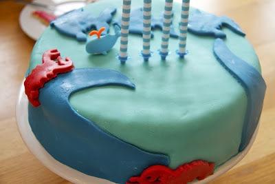 Geburtstagstorte für kleine Meeresliebhaber